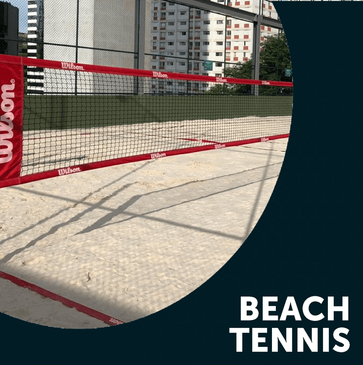 Square beach tennis